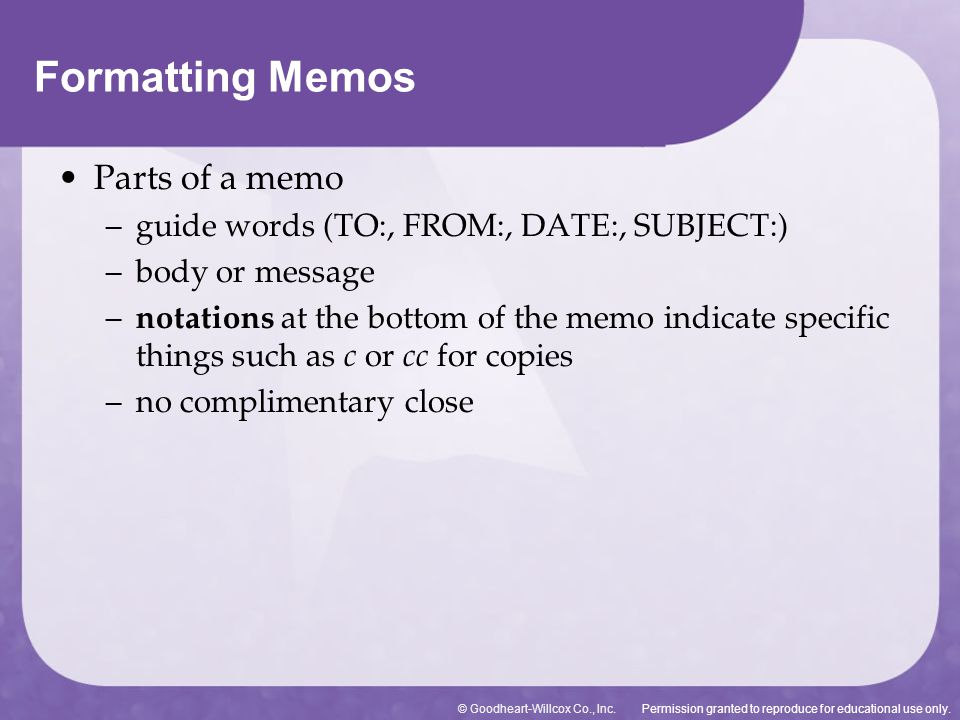 Formatting Letters, Memos, and s - ppt download