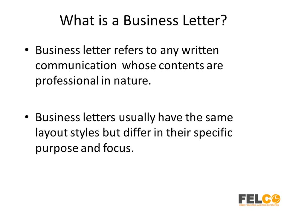 Lesson 2 Business Letters Parts and Formats - ppt download