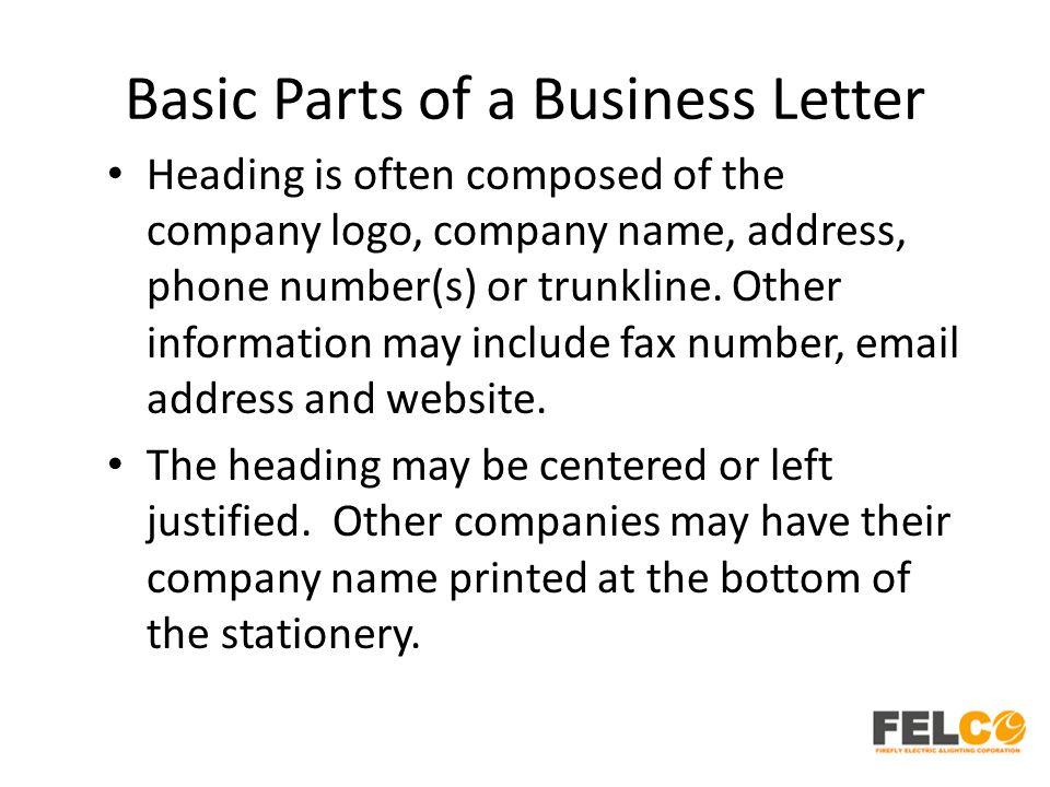 Parts of a business letter Term paper Service bwpaperarik - parts of a business letter