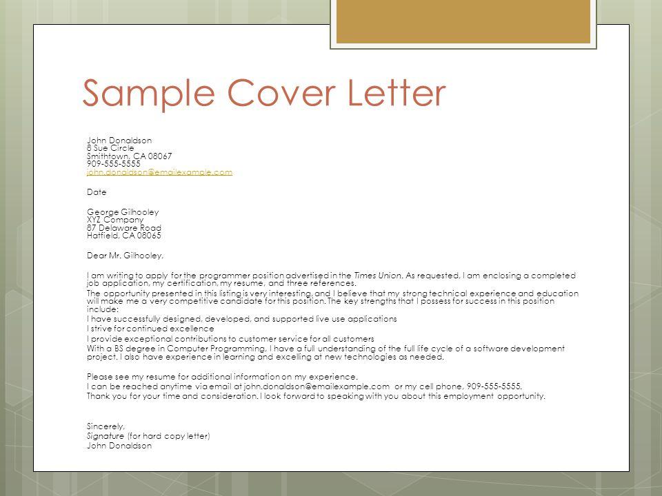 Job Application Letter (Cover letter) - ppt video online download