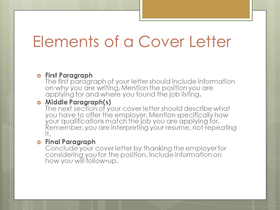 Job Application Letter (Cover letter) - ppt video online download