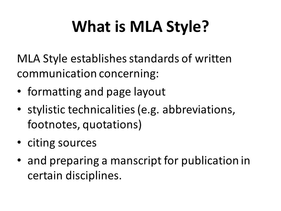 MLA FORMAT - ppt download
