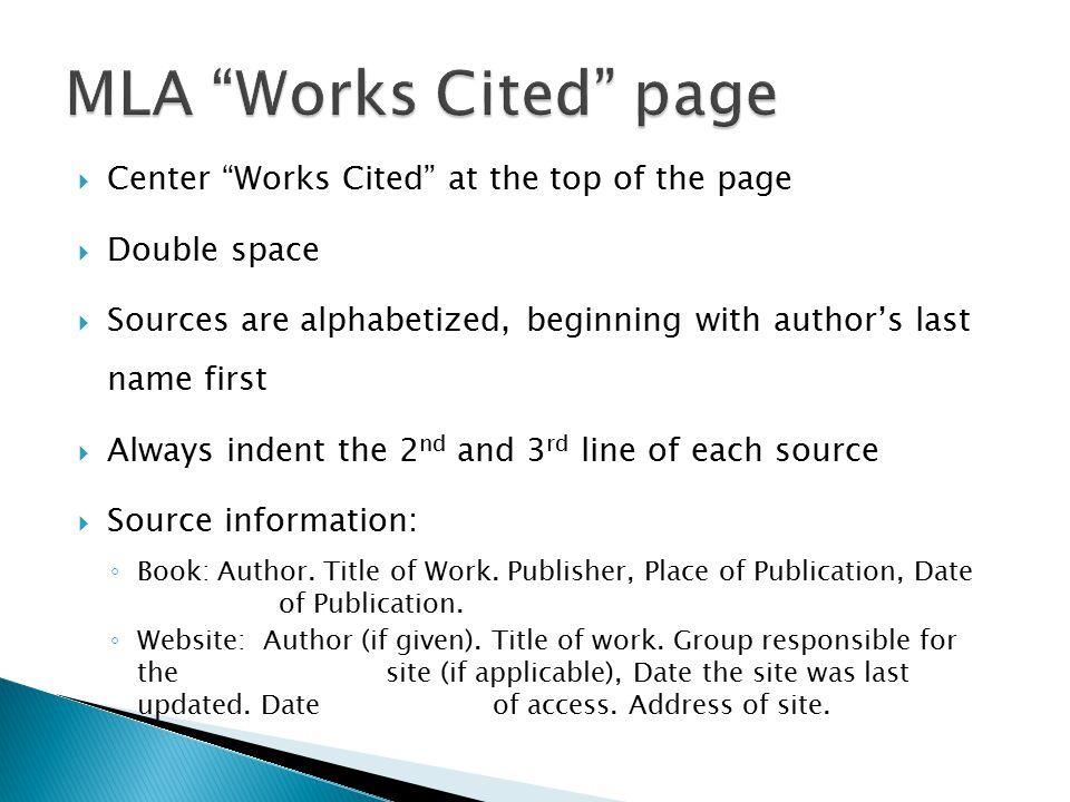 work cite page mla - Goalgoodwinmetals