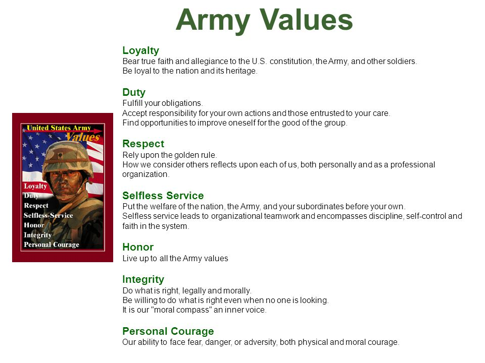 Army values essay Research paper Academic Service rhessayyghi