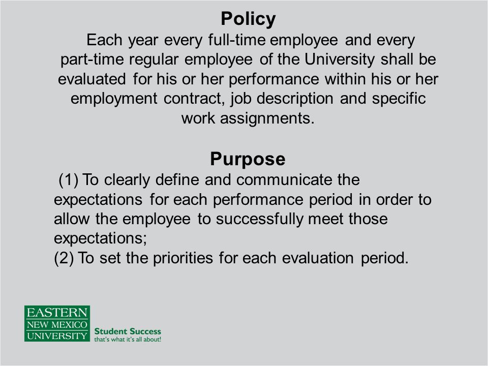 ENMU Employee Evaluation Training - ppt download