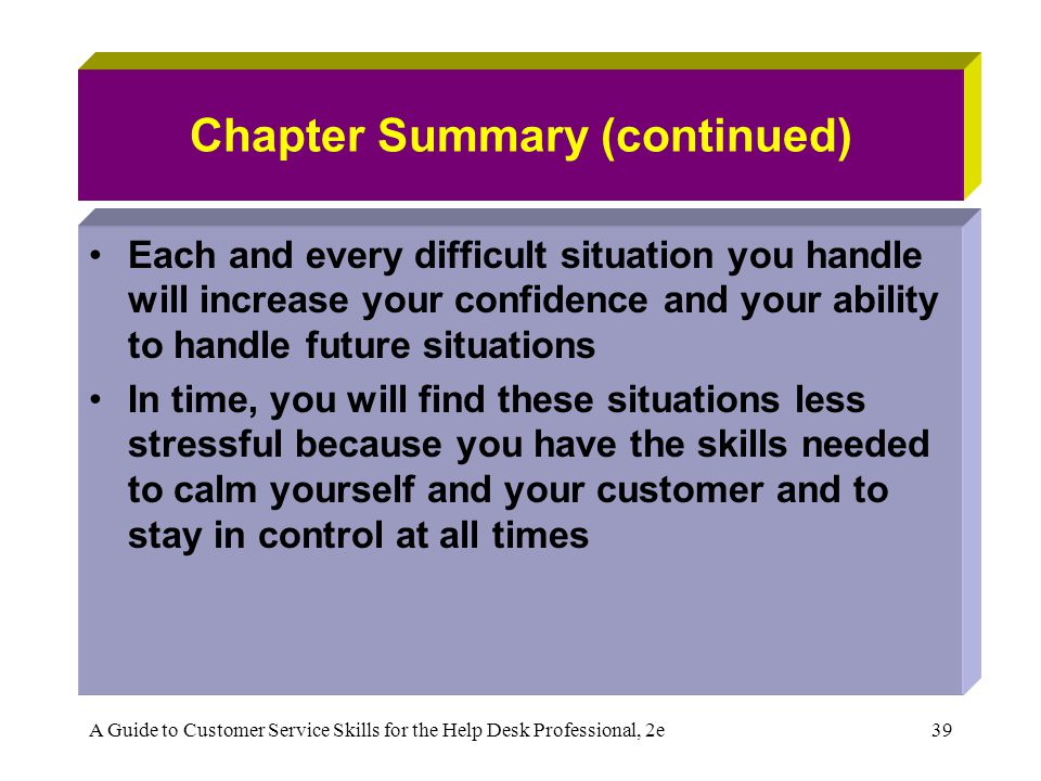 Chapter 5 Handling Difficult Customer Situations - ppt download - how do you handle difficult situations