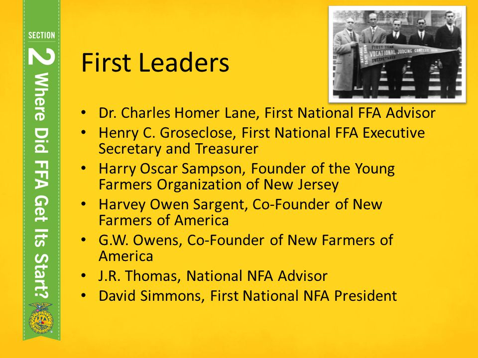 FFA History - ppt video online download - new farmers of america