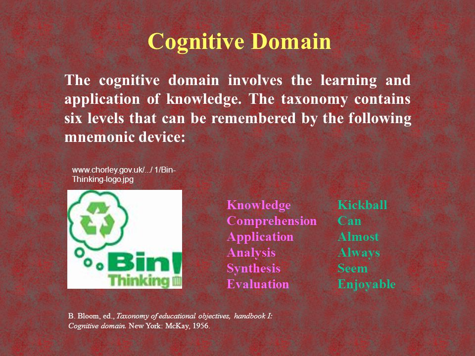 Three Learning Domains - ppt video online download