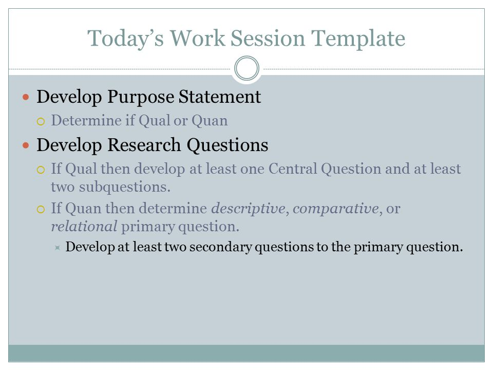 The Purpose Statement and Research Questions - ppt video online download
