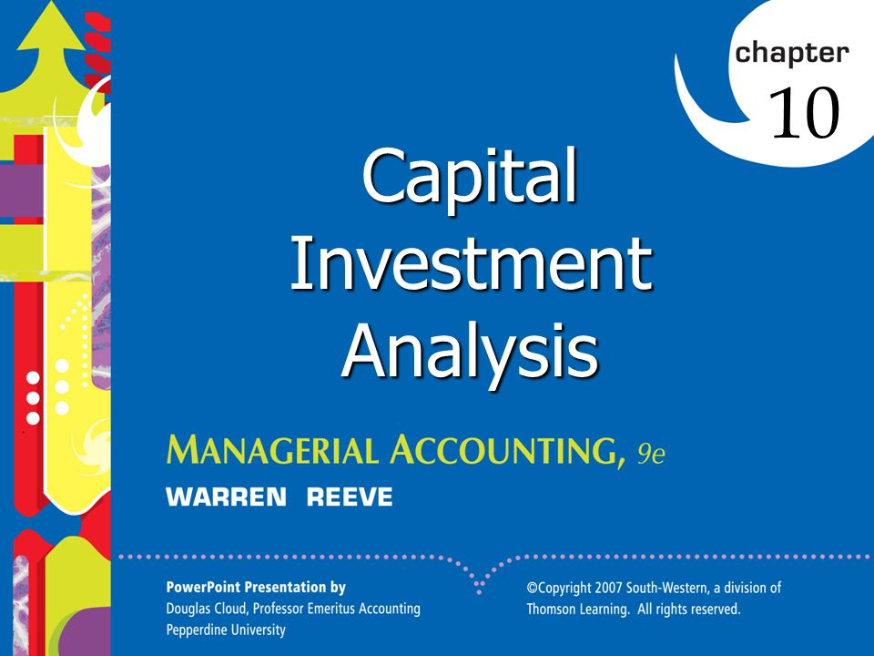 Capital Investment Analysis - ppt video online download