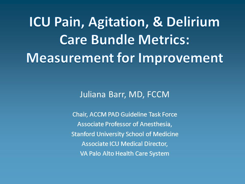 Juliana Barr Md Fccm Chair Accm Pad Guideline Task
