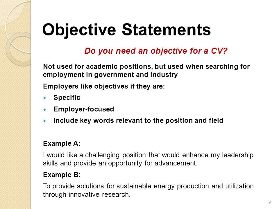 Resume need objective 278802 - 1cashinginfo - do resumes need objectives