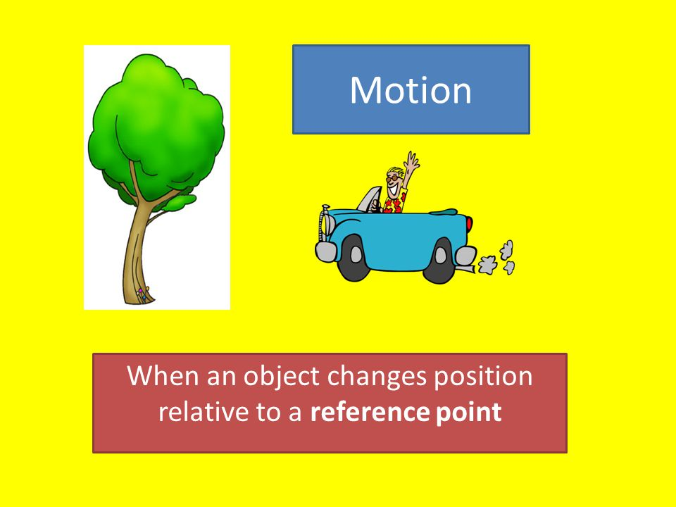 When an object changes position relative to a reference point - ppt