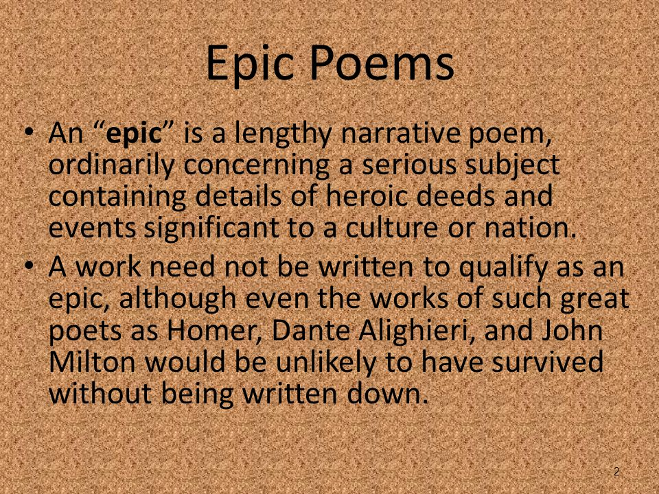 The Epic Poem and Beowulf - ppt video online download
