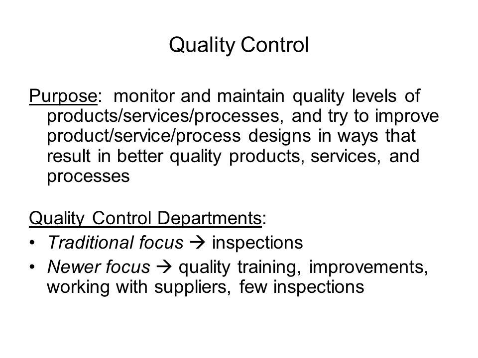 Chapter 5 Quality Control - ppt video online download