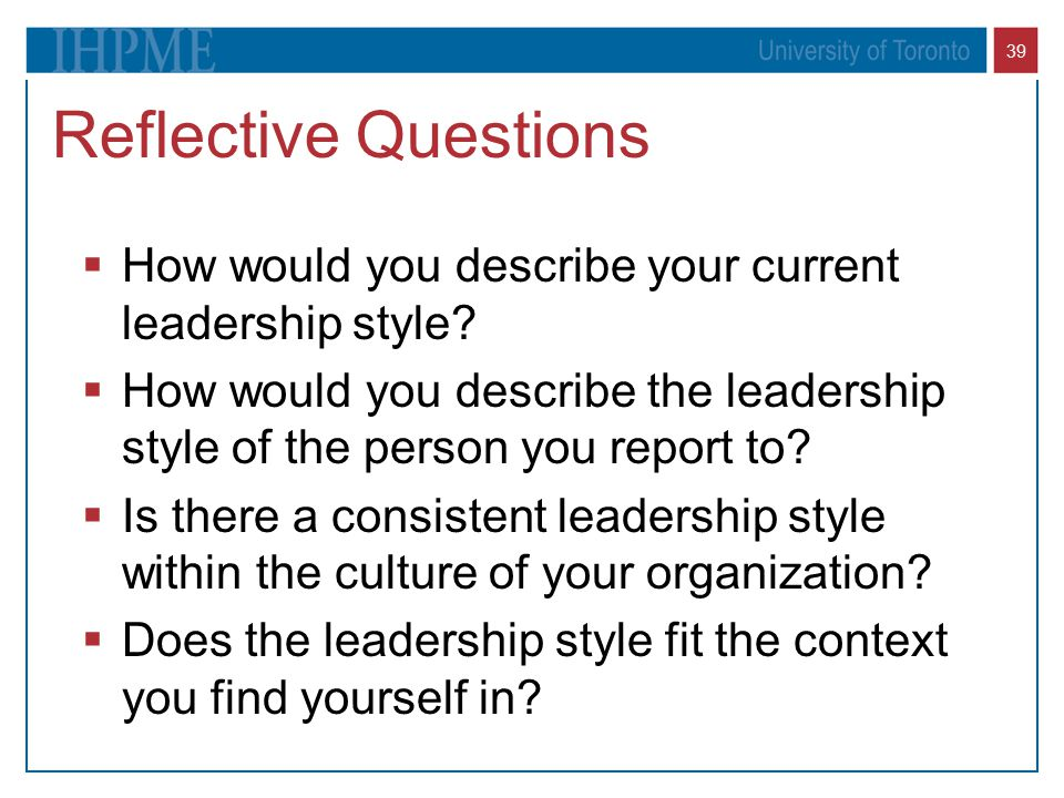 Finding the Right Leadership Style for Your Quality Improvement