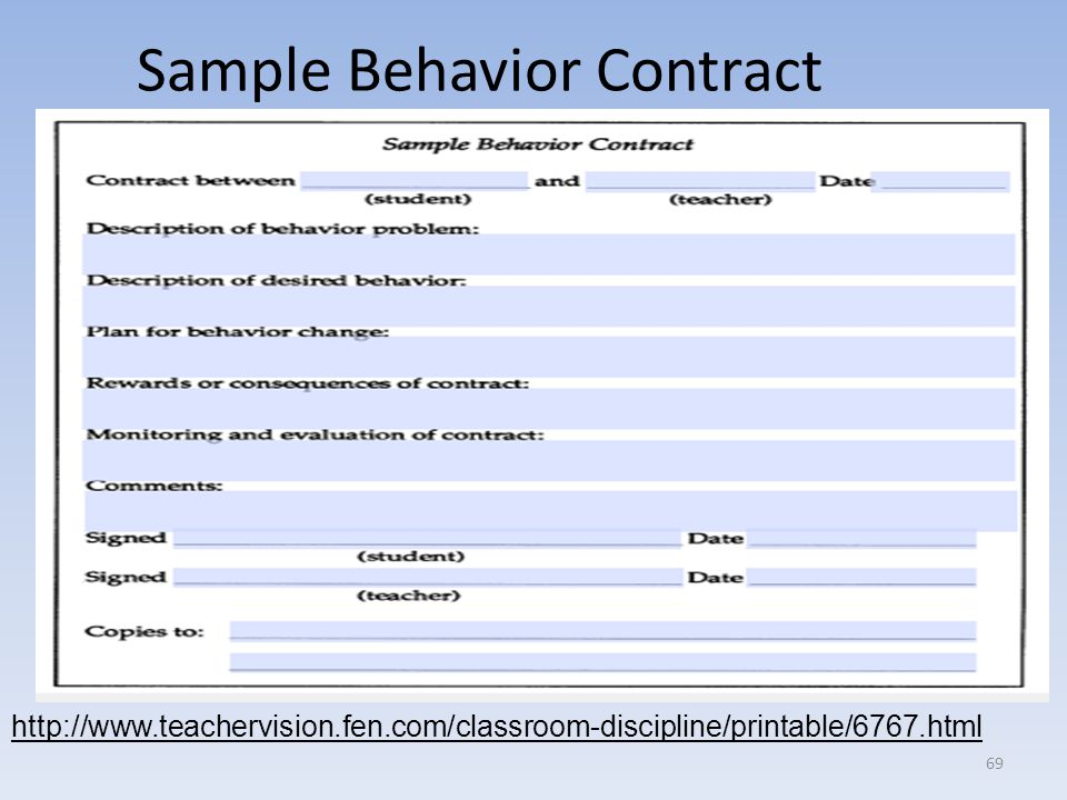 Behavioral contract Research paper Academic Writing Service