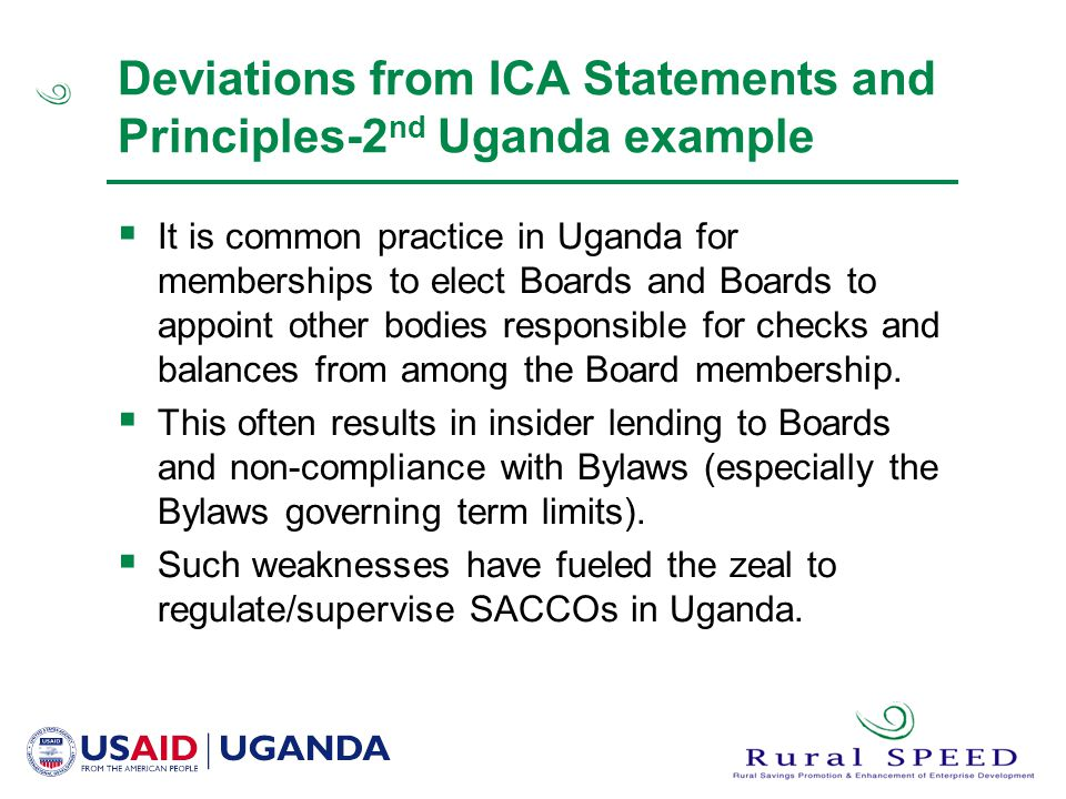 Strengths and Weaknesses of SACCO models used in East Africa - ppt