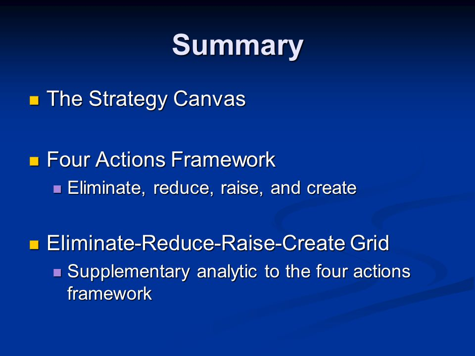 Blue Ocean Strategy Analytical Tools and Frameworks - ppt download