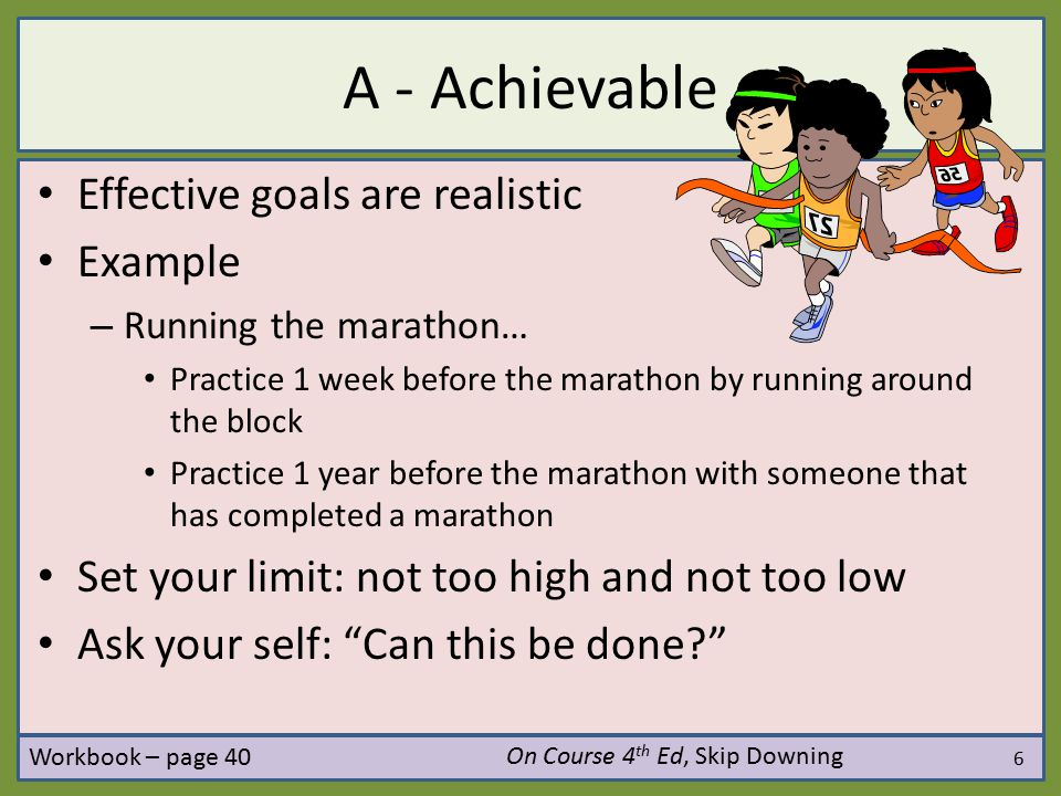 Setting achievable goals using DAPPS - ppt download