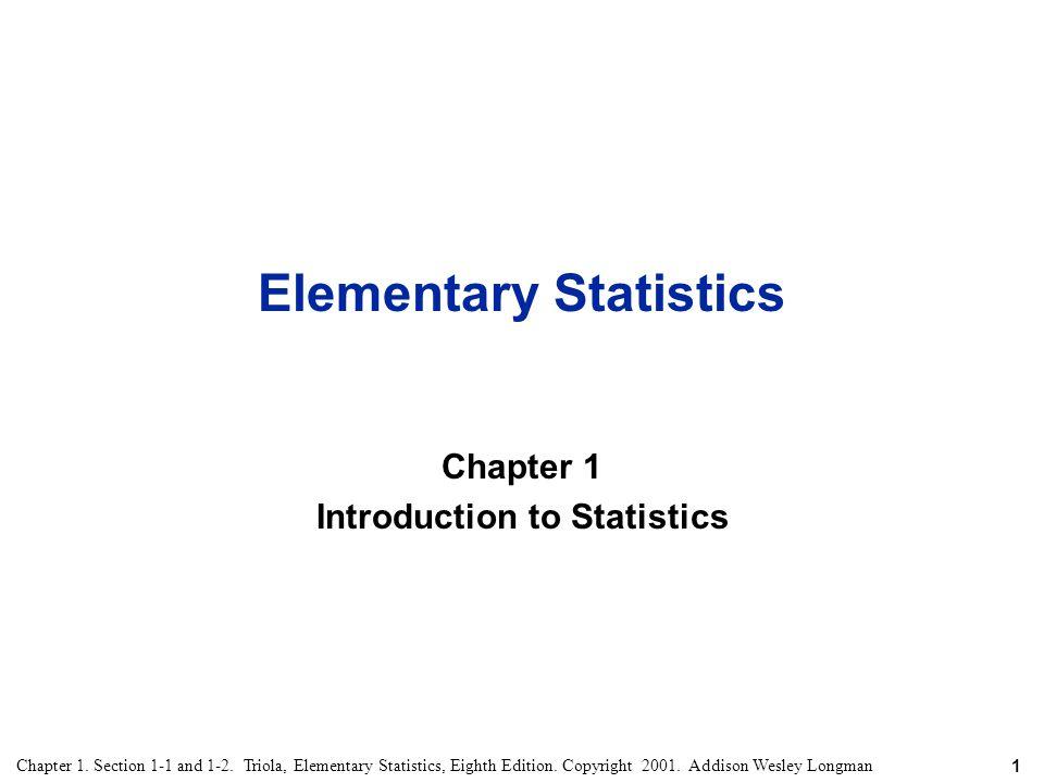 Elementary Statistics - ppt video online download