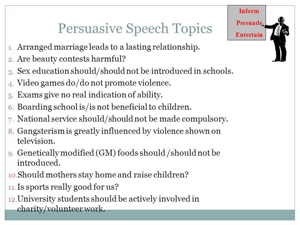 Persuasive Speech - ppt download