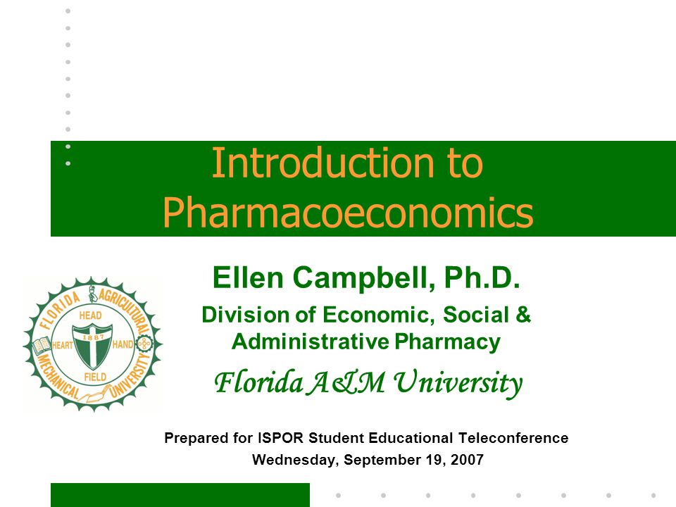 Introduction to Pharmacoeconomics - ppt video online download