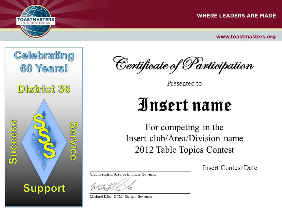 Certificate of Participation - ppt download