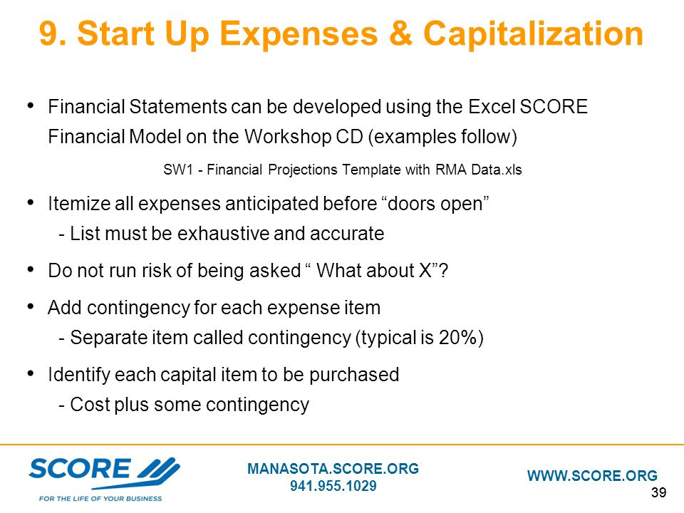 Building Your Business Plan - ppt download - startup expenses