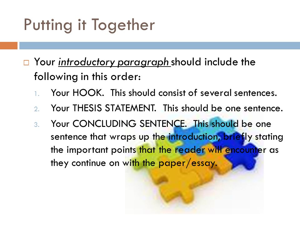 The introductory paragraph of an analysis essay should include the - essay introductory paragraph