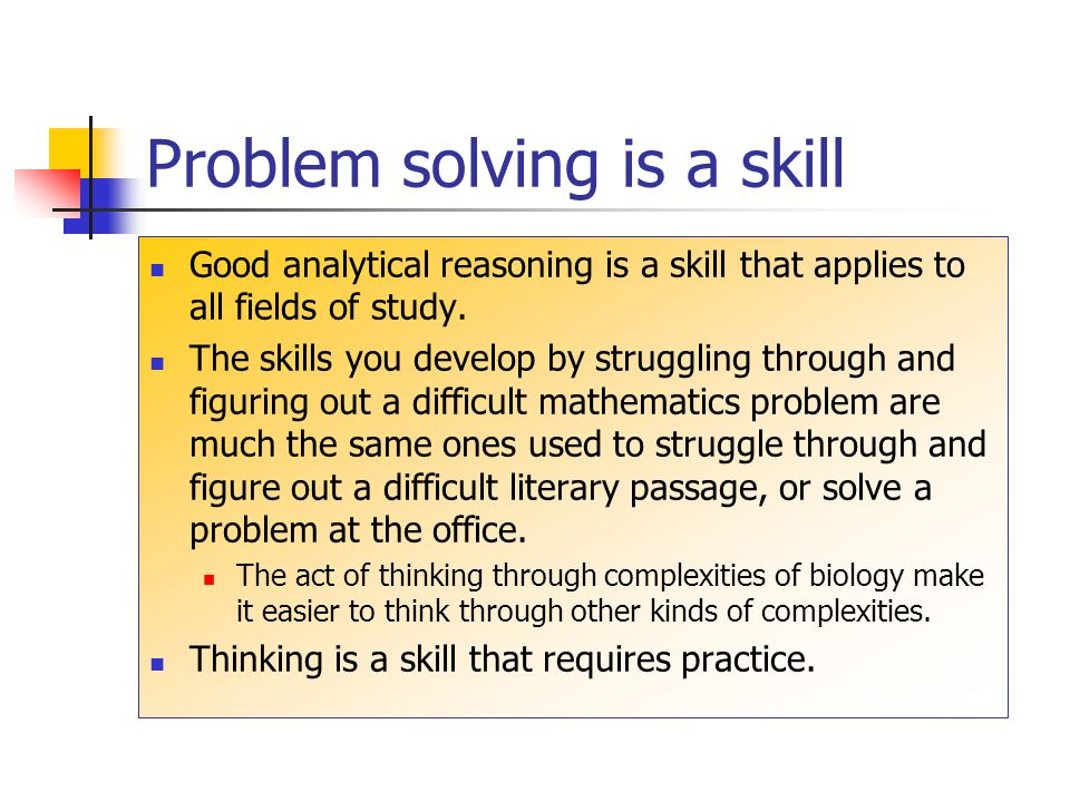What is good thinking? What is involved in good problem solving