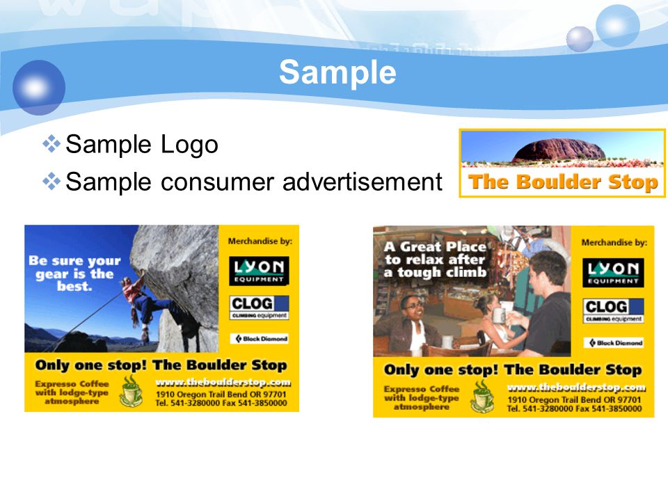 Advertising Plan of the Boulder Stop - ppt video online download