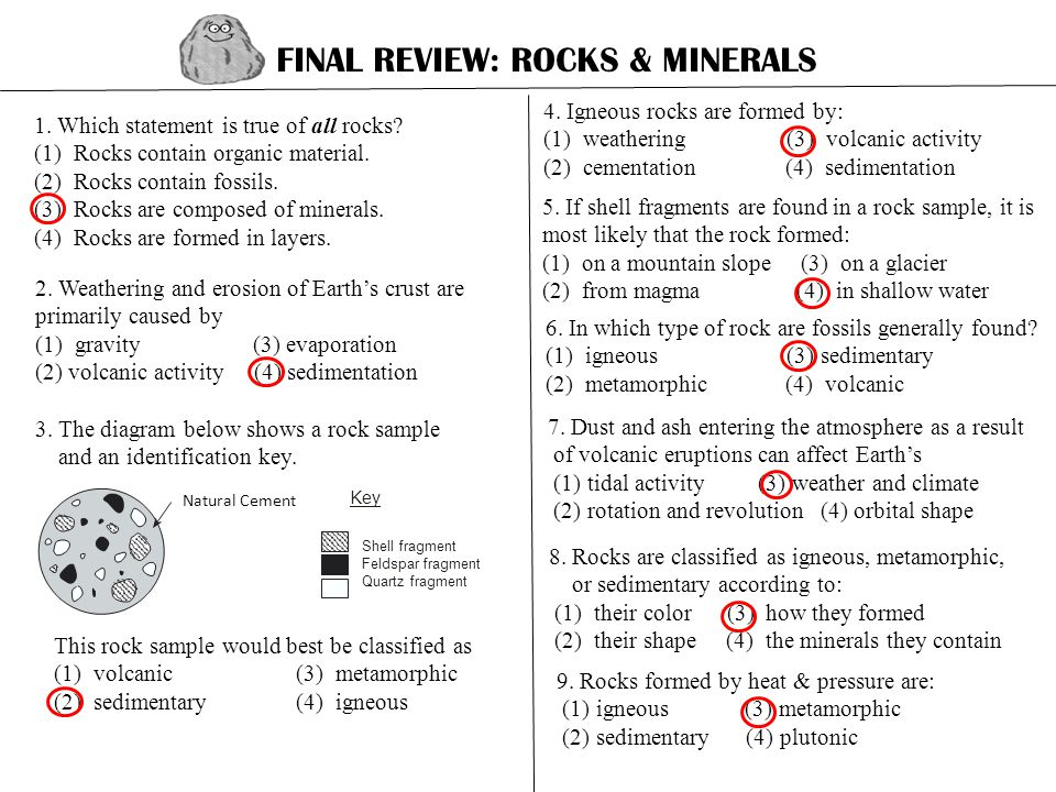 FINAL REVIEW ROCKS  MINERALS - ppt video online download