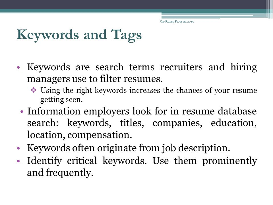 Resume Writing Presenters Judy Taylor, Professional Counselor - ppt - key words to use in a resume