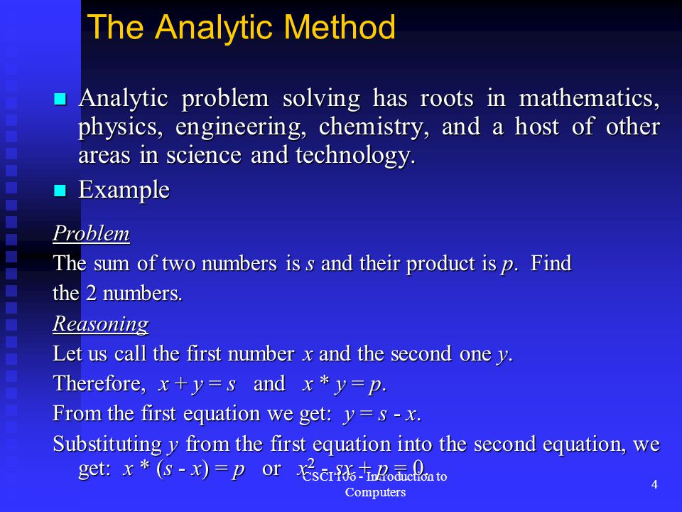 Problem Solving Concepts - ppt video online download - analytical problem solving examples