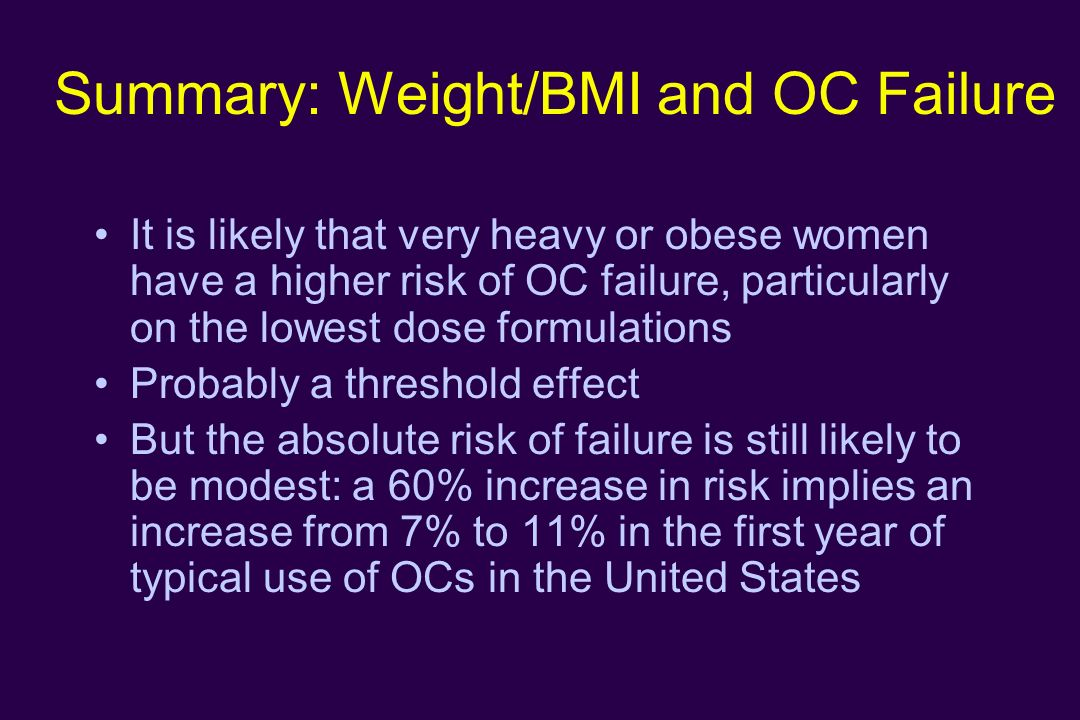 Contraception for Obese Women - ppt download