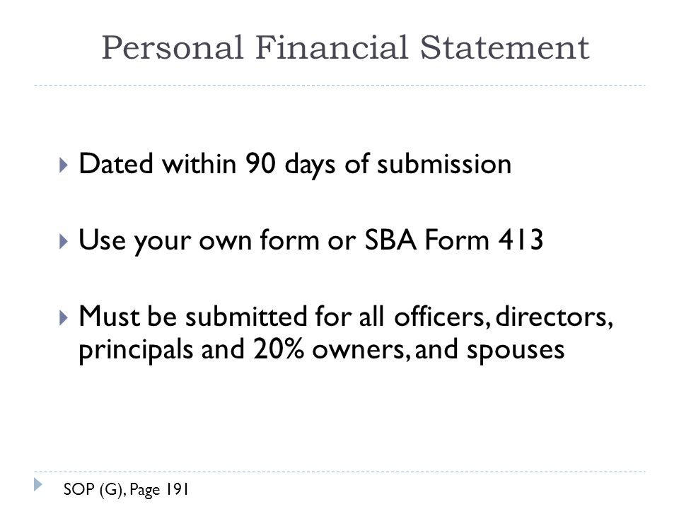Sba personal financial statement form 413 College paper Writing - financial statement form