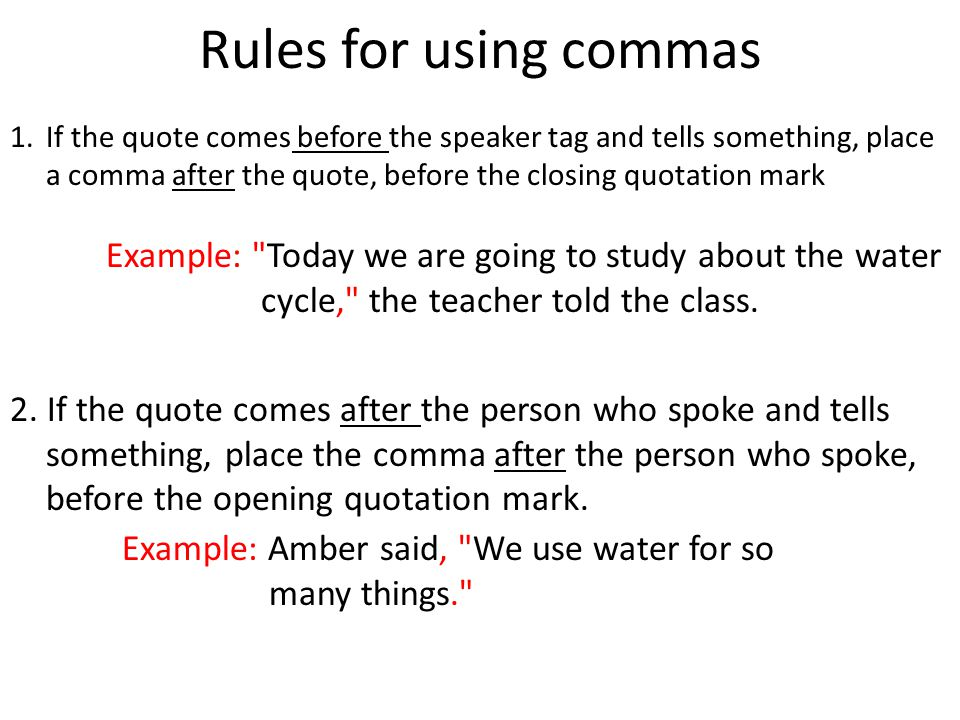 Learning Objective use commas quotes in writing - ppt download