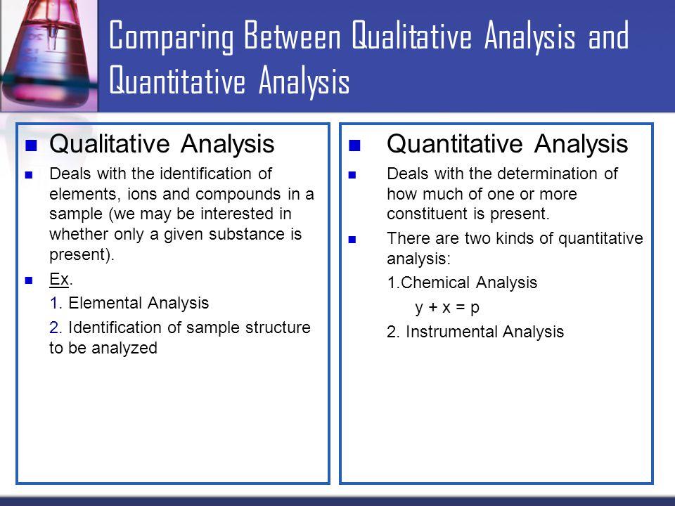Quantitative Analysis Quantitative Analysis Investment Philosophy
