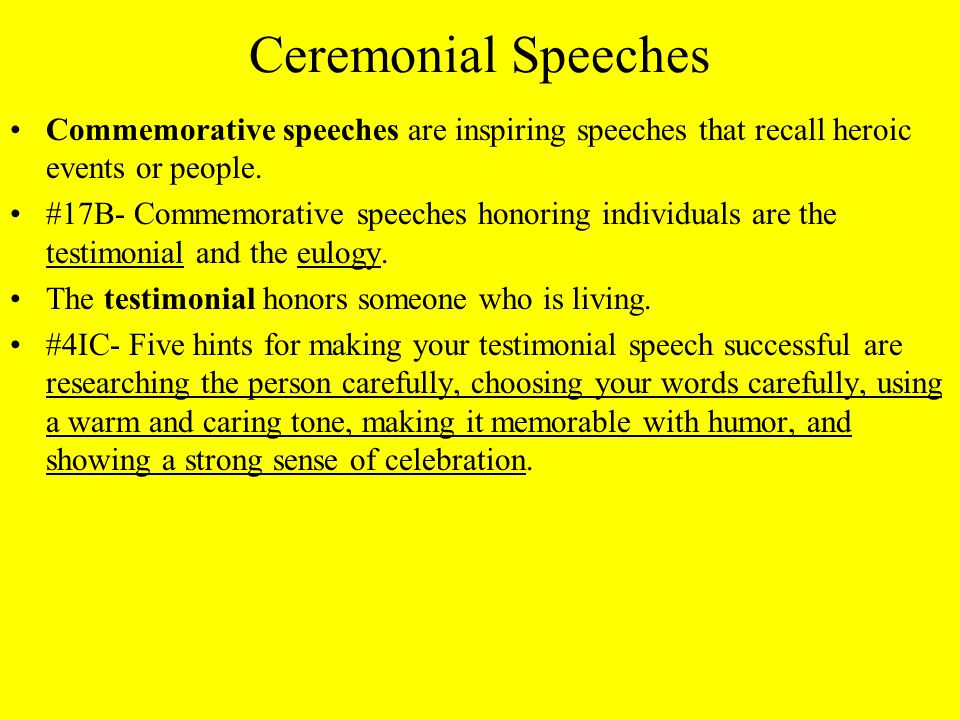Chapter 20 Speeches for Special Occasions - ppt video online download