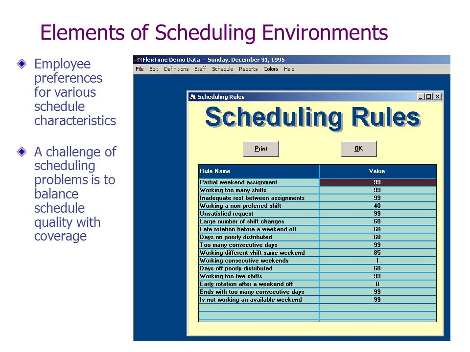 Staffing and Scheduling \u2013 Part II - ppt video online download - shift workers schedule