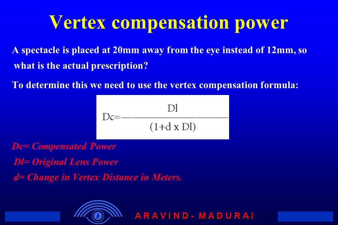 Vertex Conversion Chart Optometry T Glasses