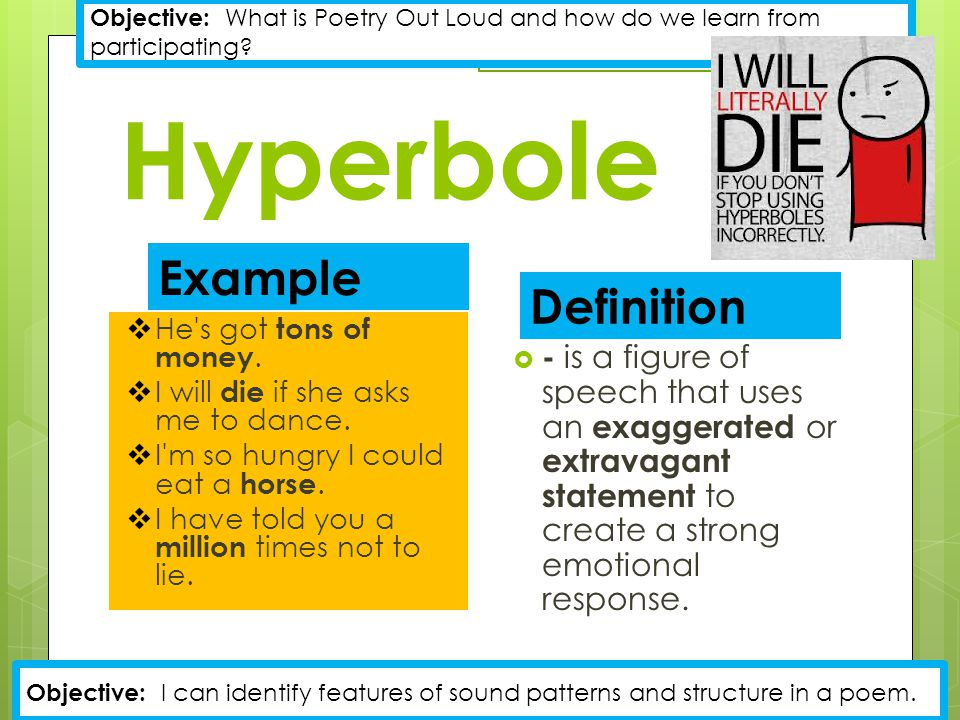 Meaning And Example Of Hyperbole Images - example of resume for student