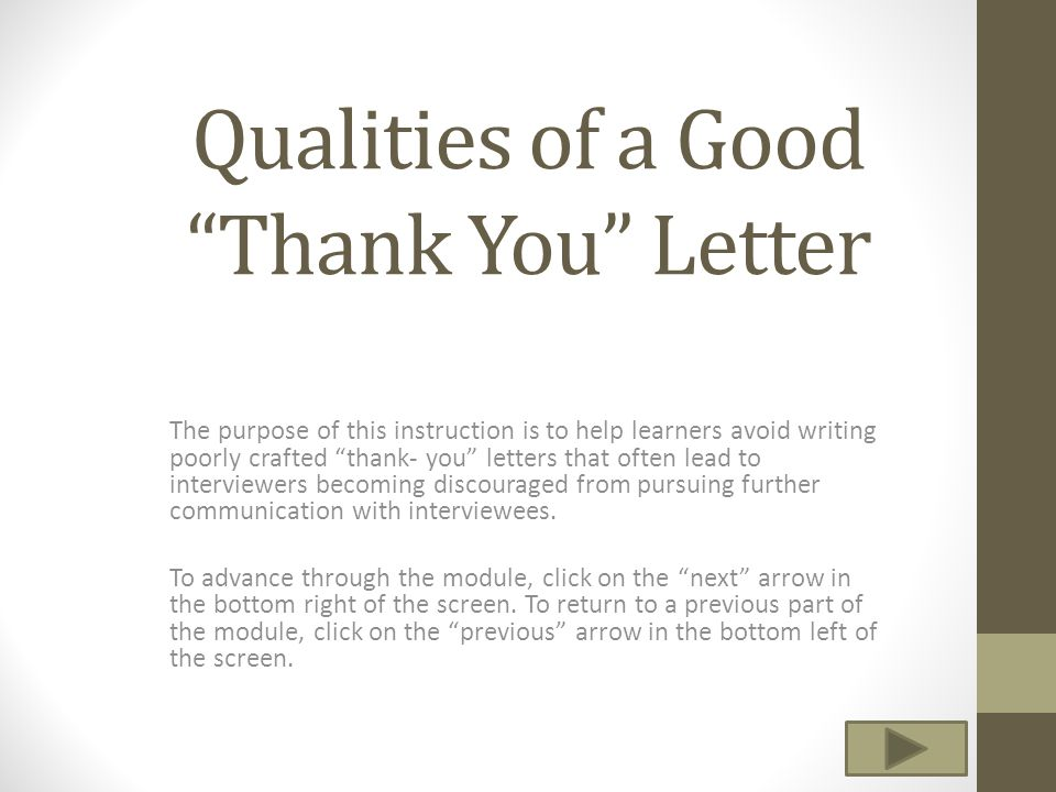 Qualities of a Good \u201cThank You\u201d Letter - ppt video online download