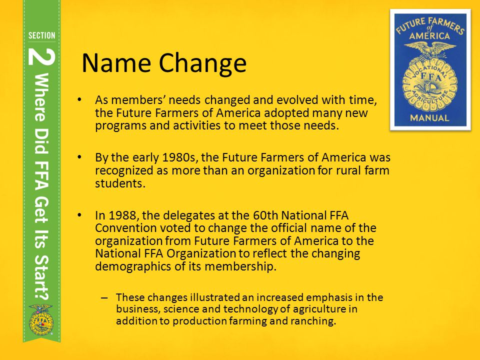 Official FFA Student Handbook The Big Picture - ppt video online - new farmers of america