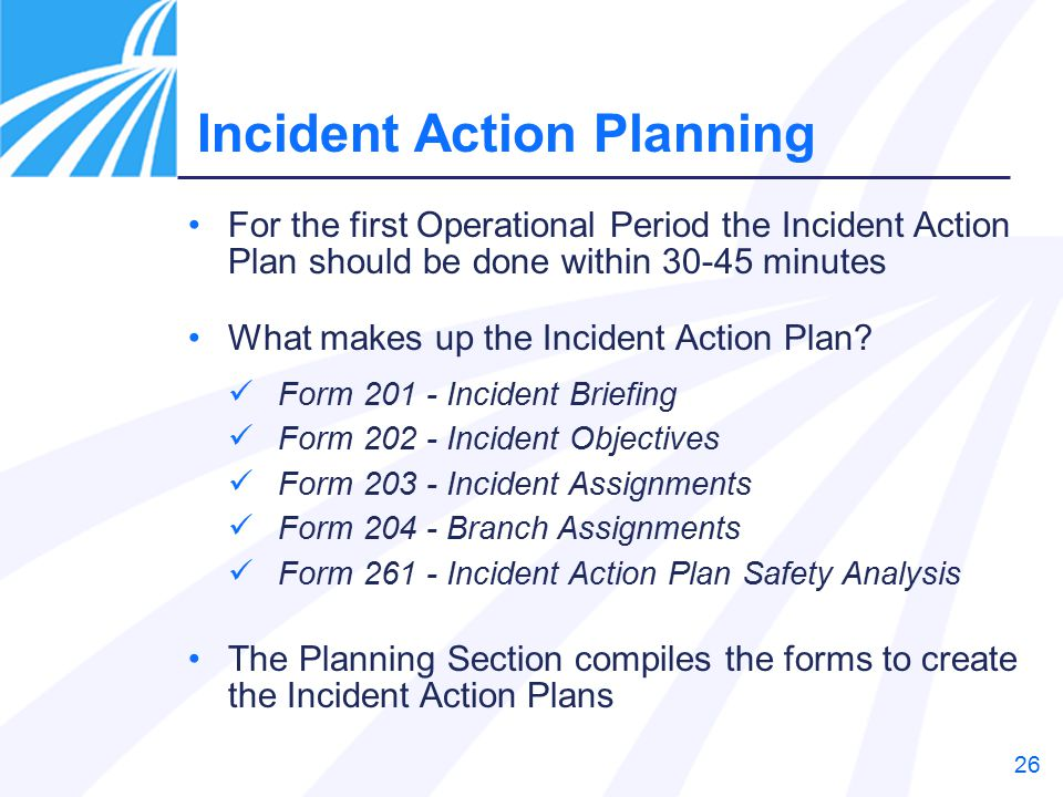 Application of Incident Action Plan  Forms Chemical Attack - ppt