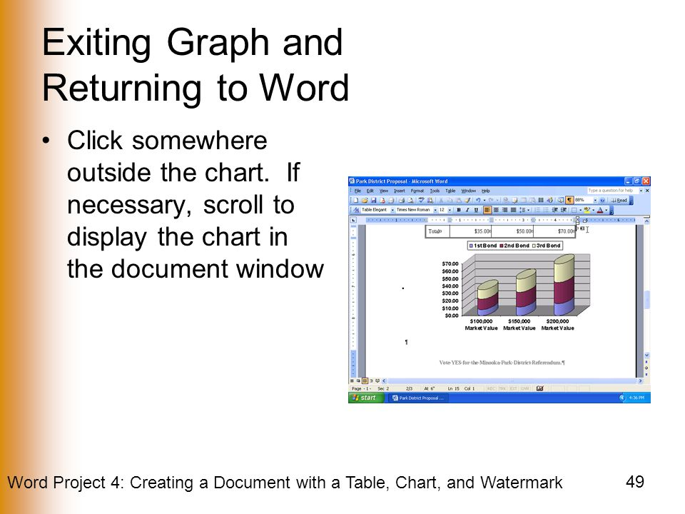 Creating a Document with a Table, Chart, and Watermark - ppt video