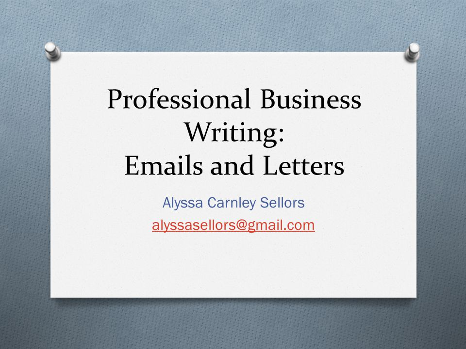 Professional Business Writing s and Letters - ppt video online download - professional business letters