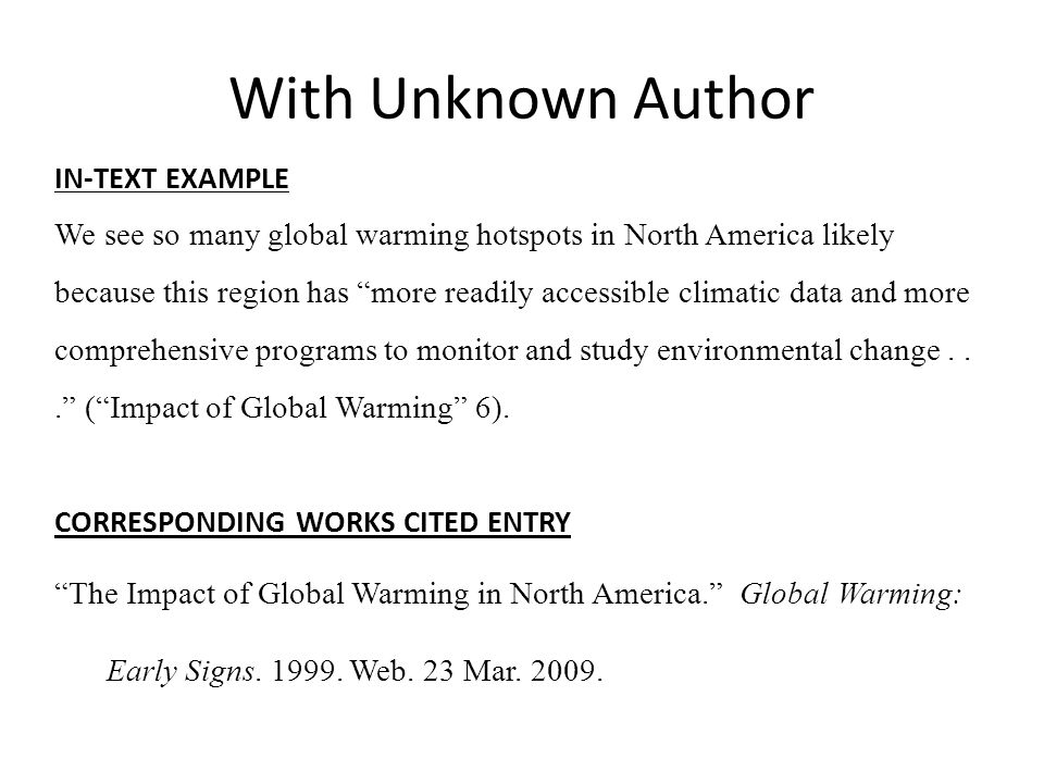 MLA Works Cited  In-Text Citations - ppt video online download - Mla Work Cited Book
