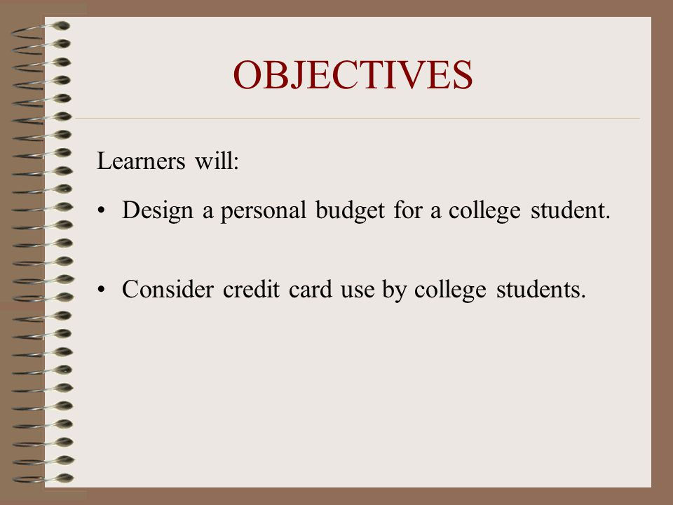 COLLEGE STUDENT BUDGET MINI-LESSON - ppt video online download